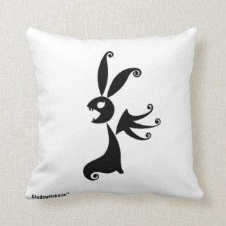 Ébano el conejo de la sombra cojín decorativo