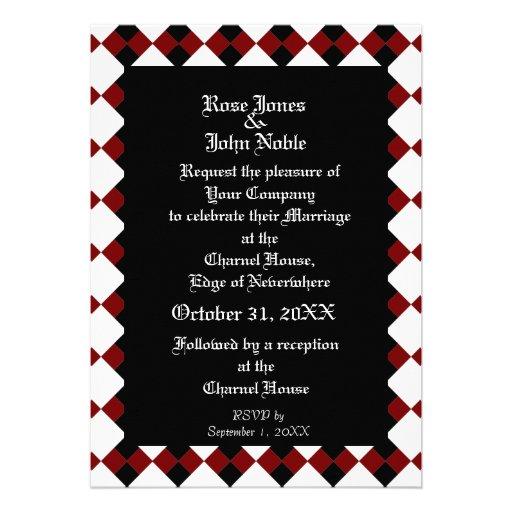 Ébano XI (rojo) de Argyll que casa la invitación