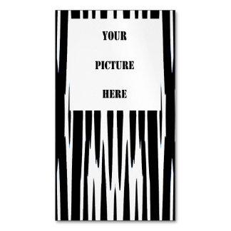 ÉBANO y MARFIL (rayas) de la cebra ~.jpg Tarjetas De Visita Magnéticas (paquete De 25)