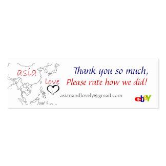 eBay y etsy Tarjetas De Visita Mini