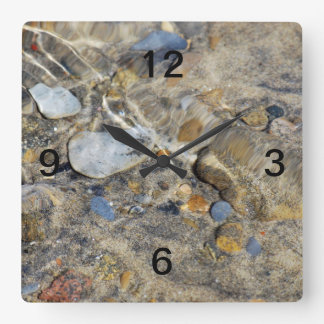 """Ebb and Flow"" collection Square Wall Clock"