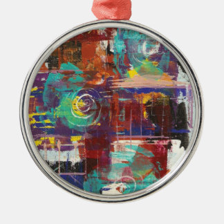 Ebb and Flow Round Metal Christmas Ornament