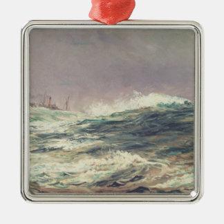 Ebb Tide, Long Reach, 1881 Square Metal Christmas Ornament