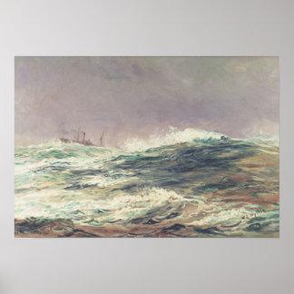 Ebb Tide, Long Reach, 1881 Poster