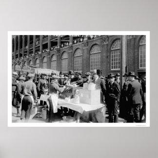 Ebbets Field Hot Dog Stand Baseball 1920 Poster