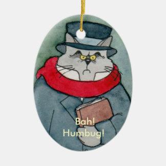 EbeMeowzer Scrooge from a Christmas Carol Ceramic Ornament