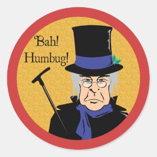 Ebenezer Scrooge Etiqueta Redonda