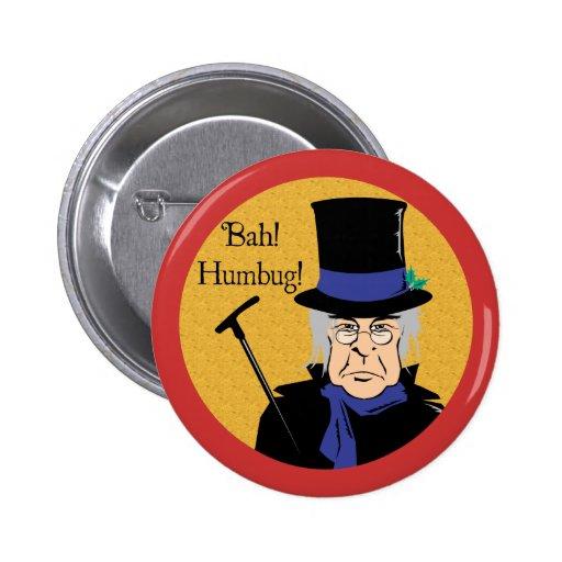 Ebenezer Scrooge Pinback Button