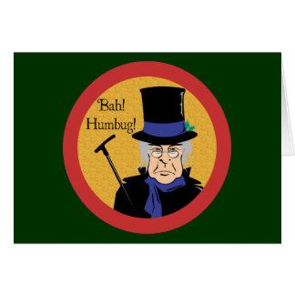 Ebenezer Scrooge Tarjeta De Felicitación