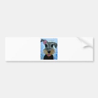 EBfromadSchnauzer2crop8x10.jpg Bumper Sticker