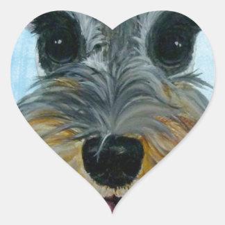 EBfromadSchnauzer2crop8x10.jpg Heart Sticker