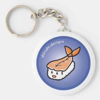 Ebi Sushi Basic Round Button Keychain