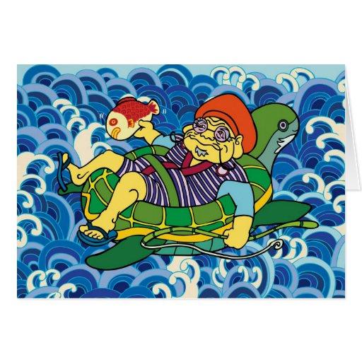 Ebisu in summer card