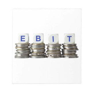 EBIT - Ganancias antes del interés y de impuestos Bloc De Notas