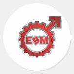 EBM Logo_9 Pegatinas Redondas