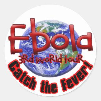 Ebola 3rd World Tour Classic Round Sticker