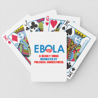 EBOLA - A DEADLY VIRUS INCUBATED BICYCLE PLAYING CARDS