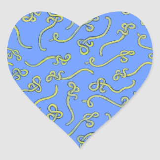 Ebola in blue and yellow heart sticker