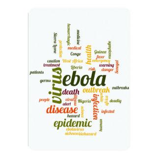 """Ebola Invitación 5"""" X 7"""""""