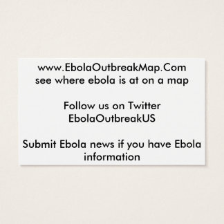 ebola outbreak map business cards