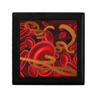 Ebola Virus and Blood Cells Jewelry Boxes