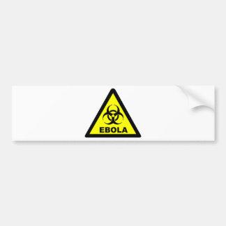 Ebola Warning Bumper Sticker