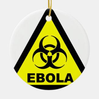 Ebola Warning Ceramic Ornament