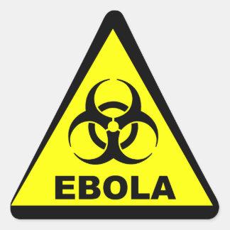 Ebola Warning Triangle Sticker