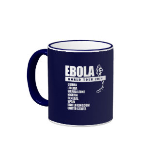 EBOLA WORLD TOUR 2014 RINGER COFFEE MUG