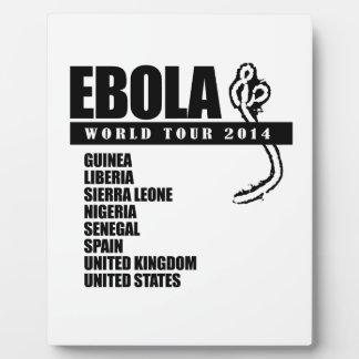EBOLA WORLD TOUR 2014 PLAQUE