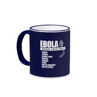 EBOLA WORLD TOUR 2014 RINGER COFFEE MUG