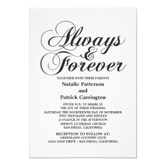 Ebony Always & Forever Wedding Invite