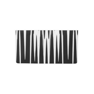 EBONY AND IVORY zebra stripe (abstract art design) Checkbook Cover