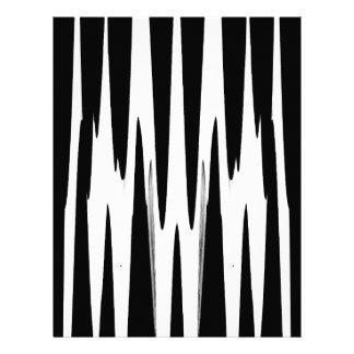 EBONY AND IVORY zebra stripe (abstract art design) Letterhead