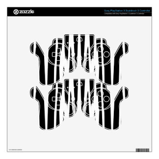 EBONY AND IVORY zebra stripe (abstract art design) PS3 Controller Decal