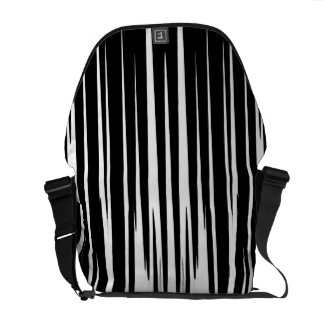 EBONY AND IVORY zebra stripes abstract art design Courier Bag