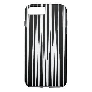 EBONY AND IVORY zebra stripes abstract art design iPhone 8 Plus/7 Plus Case