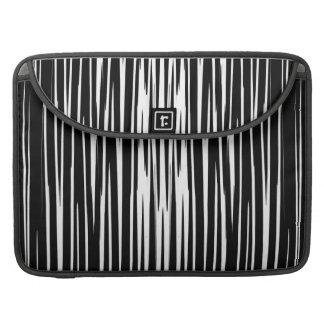 EBONY AND IVORY zebra stripes abstract art design Sleeve For MacBook Pro