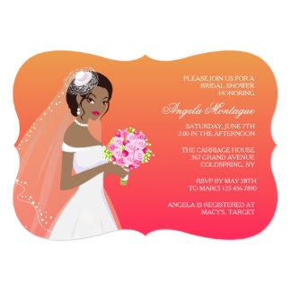 Ebony Beauty Bridal Shower Invitation