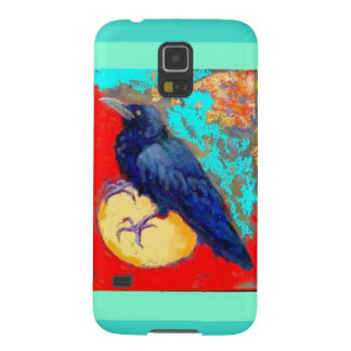 Ebony Crow & Egg w/Turquoise by Sharles Cases For Galaxy S5