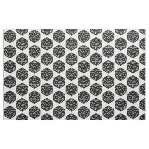 Ebony D20 Dice Fabric