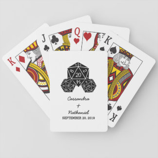 Ebony D20 Dice Wedding Playing Cards