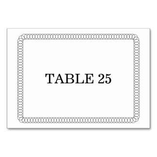 Ebony Encircled Rounded Table Card