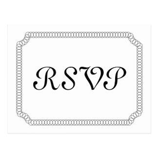 Ebony Encircled Ticket RSVP Postcard
