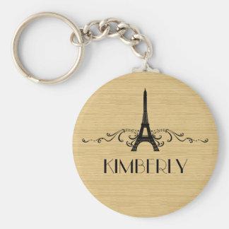Ebony French Flourish Keychain