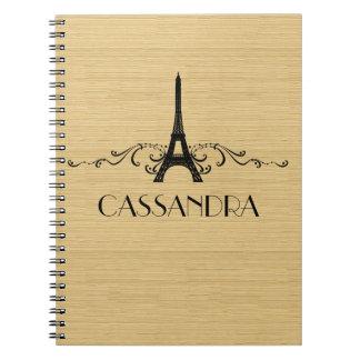 Ebony French Flourish Notebook