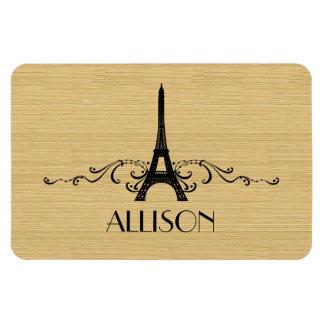 Ebony French Flourish Premium Magnet