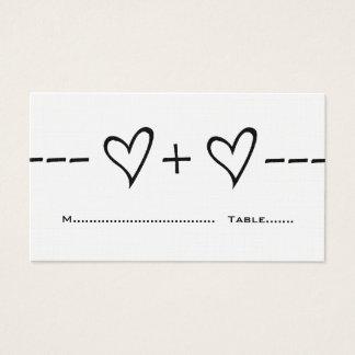 Ebony Heart Equation Place Card