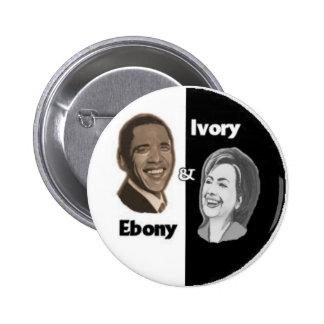 Ebony & Ivory / Black & White Button