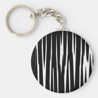 EBONY & IVORY in the first (zebra stripe art) ~ Basic Round Button Keychain